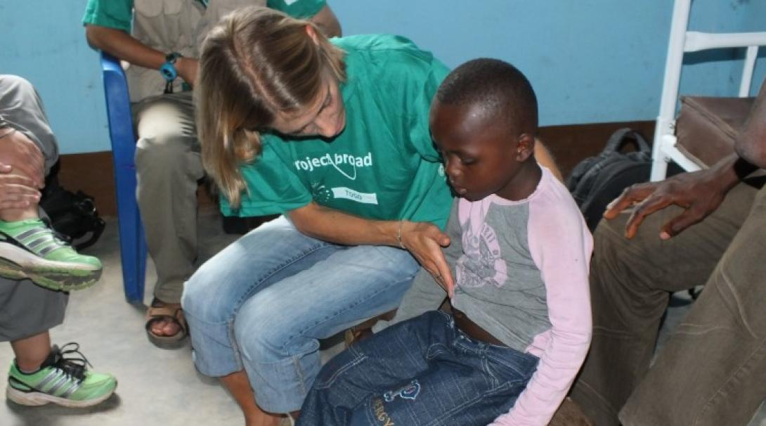 A nursing student on an outreach project in Togo